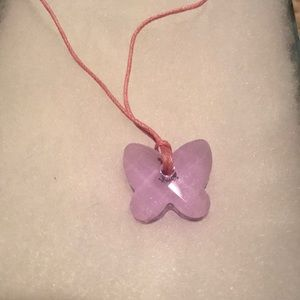 NEW Swarovski butterfly crystal necklace with box